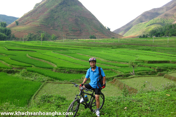 Biking tour arranged by hotel
